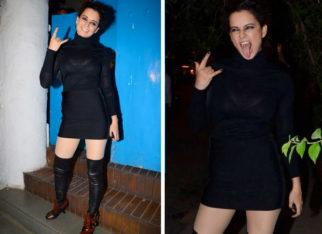 Kangana Ranaut goes badass in black on a dinner date with Mental Hai Kya costars