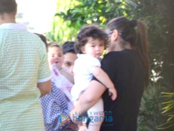 Kareena Kapoor Khan, Soha Ali Khan and Kunal Khemu snapped with their kids