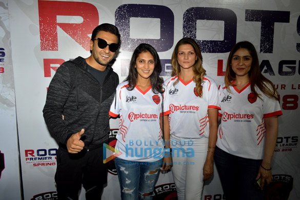 Ranveer Singh, Mandana Karimi and others snapped attending the Roots Premiere League