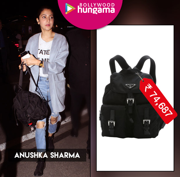 Weekly Celebrity Splurges: Anushka Sharma with a Prada backpack