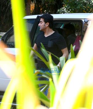 Arbaaz Khan spotted near his apartment in Bandra
