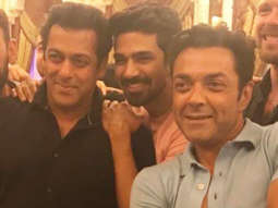 Salman Khan, Bobby Deol and other Race 3 stars come together for the birthday of Saqib Saleem