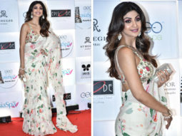 Shilpa Shetty in an Arpita Mehta saree at GeoSpa Asia Awards 2018