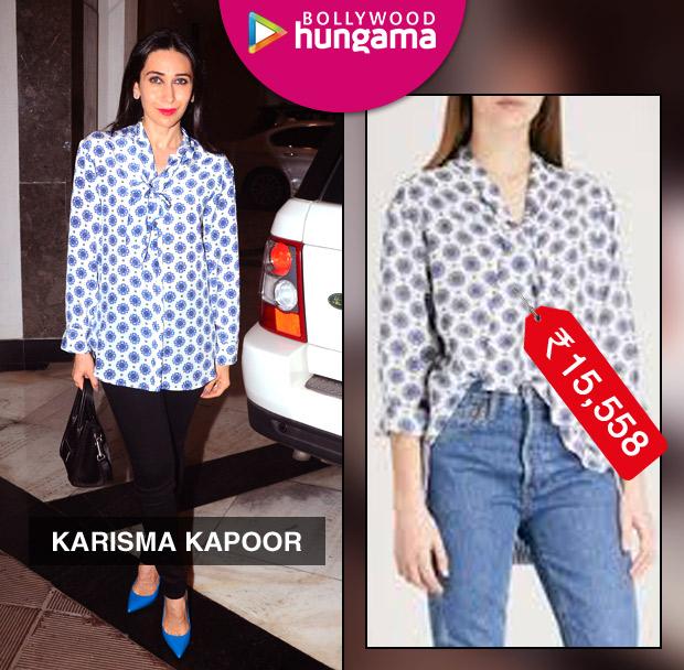 Weekly Celebrity Splurges - Karisma Kapoor in Sandro