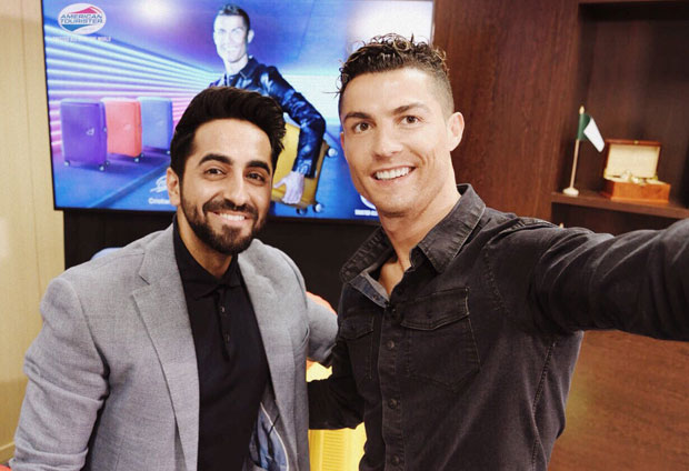 Ayushmann Khurrana meets Cristiano Ronaldo and he can't stop gushing over it!