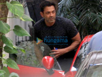 Bobby Deol dubs for Race 3 at Sunny Super Sound in Mumbai