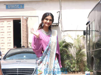 Cast of Veere Di Wedding snapped outside a studio