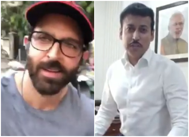 WATCH: Hrithik Roshan takes Rajyavardhan Singh Rathore's Fitness Challenge and goes cycling on Mumbai streets