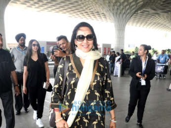 Hema Malini, Esha Deol and Shahid Kapoor snapped at the airport