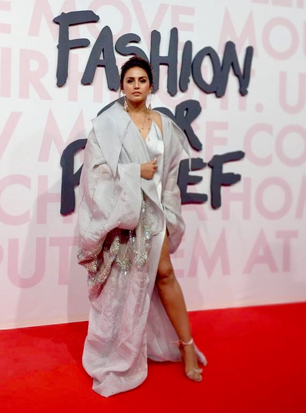 Huma Qureshi in an Elio Abou Fayssal ensemble at Fashion for Relief event in Cannes