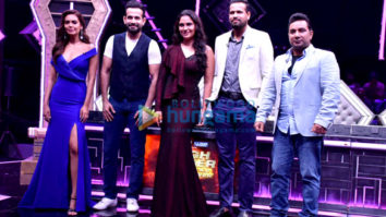 Irfan Pathan, Yusuf Pathan, Esha Gupta, Ahmed Khan, Lara Dutta snapped on sets of High Fever.. Dance Ka Naya Tevar