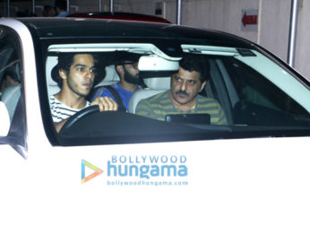 Ishaan Khatter spotted with Rajesh Khattar