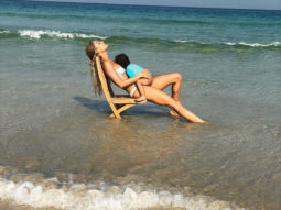Lisa Haydon spends her day on the beach with her baby boy Zach Lalvani