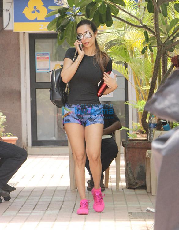 Malaika Arora snapped outside a gym in Mumbai