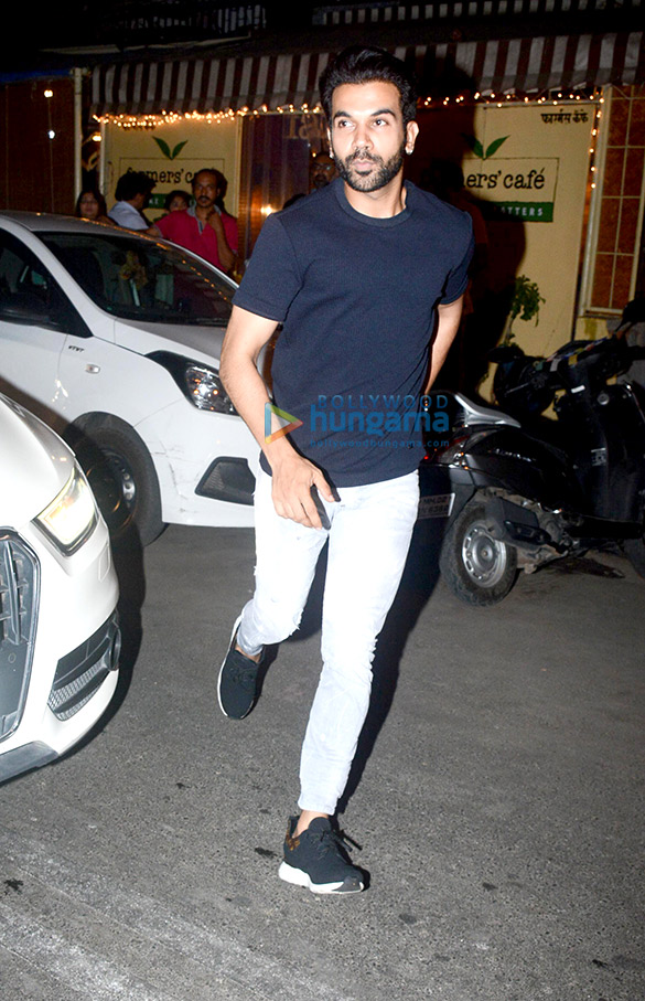 Rajkummar Rao and Patralekha spotted at Farmers' Cafe