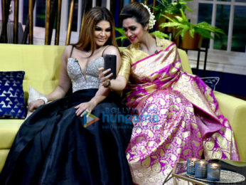 Rakhi Sawant, Arshi Khan and Eijaz Khan shoot for the show JuzzBaatt