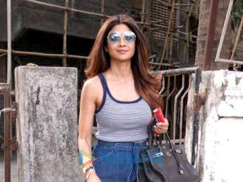 Shilpa Shetty snapped in Juhu