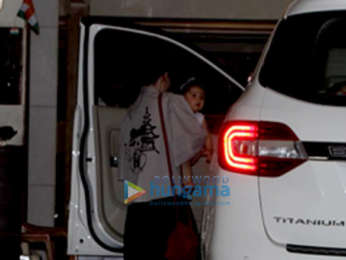 Soha Ali Khan and her daughter snapped at Saif Ali Khan's house