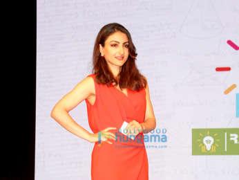 Soha Ali Khan attends the educational campaign Jee Se Jeet Tak
