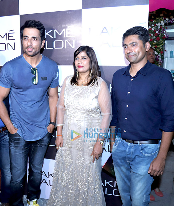 Sonu Sood snapped at Lakme salon