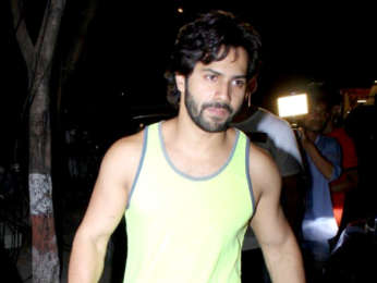 Varun Dhawan and Prashant Sawant snapped at Body Sculptor gym