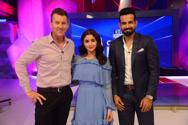 When Alia Bhatt met Bret Lee and Irfan Pathan during IPL