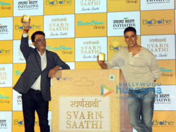 Akshay Kumar snapped at Svarn Saathi launch at Novotel Hotel in Juhu