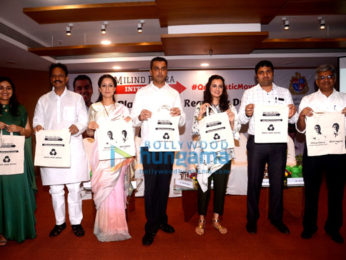 Dia Mirza and Rouble Nagi attend Milind Deora's anti-plastic event