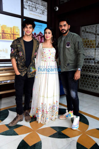 Janhvi Kapoor and Ishaan Khatter snapped promoting their film Dhadak in Jaipur