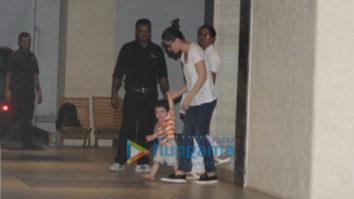 Kareena Kapoor Khan and Karisma Kapoor spotted at Taimur Ali Khan's grandmother's house