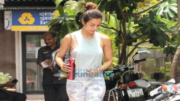 Malaika Arora snapped outside her gym