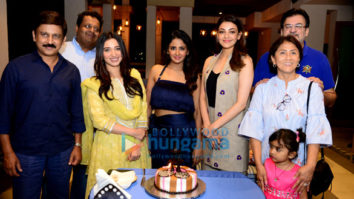 Kajal Aggarwal snapped celebrating Parul Yadav's birthday on sets of Queen