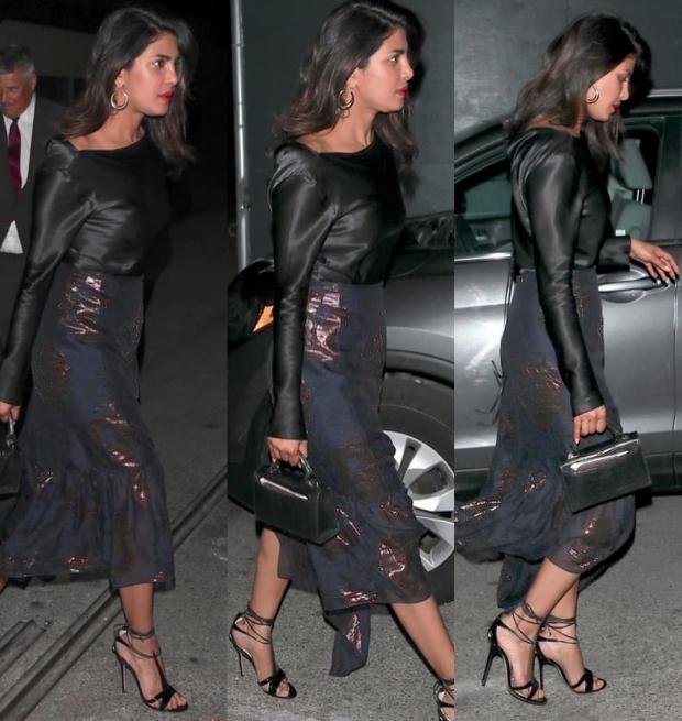 Priyanka Chopra on a date night with Nick Jonas in LA
