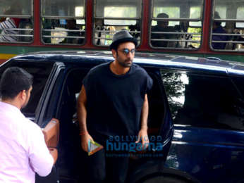 Ranbir Kapoor spotted at a salon in Bandra