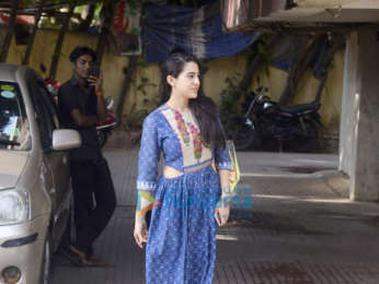 Sara Ali Khan snapped post her gym session in Mumbai