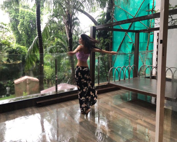 Here's how Mouni Roy welcomed the rain in her own style!