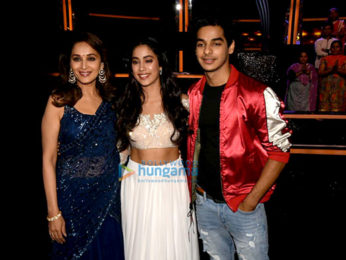 Ishaan Khatter and Janhvi Kapoor snapped on the set of Dance Deewane