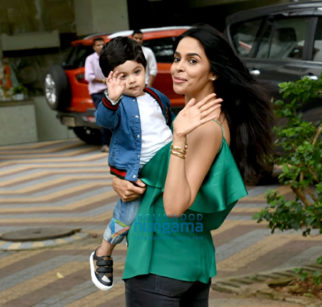 Mallika Sherawat snapped with her nephew Rasher Lambia in Yari Road