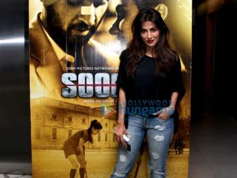Sachin Tendulkar and Fatima Sana Shaikh snapped attending the screening of 'Soorma'