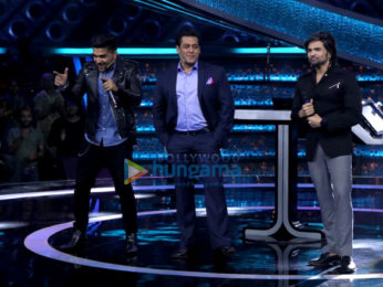 Salman Khan, Guru Randhawa and Himesh Reshammiya snapped on the sets of Dus Ka Dum