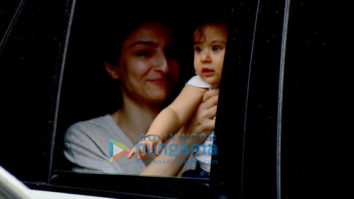 Soha Ali Khan snapped with daughter Inaaya Naumi Kemmu in Bandra