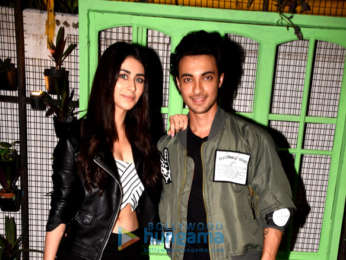 Aayush Sharma and Warina Hussain snapped promoting 'Loveratri'