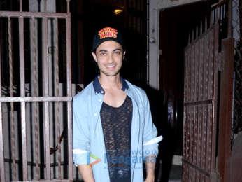 Aayush Sharma snapped at a dubbing studio in Bandra