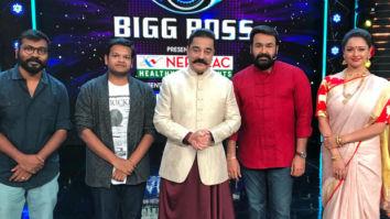 When Bigg Boss met Bigg Boss: Kamal Haasan meets Mohanlal on the sets of Bigg Boss Malayalam for Vishwaroopam 2 promotions
