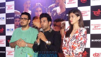 Kriti Sanon, Rajkummar Rao launch Stree song 'Aao Kabhi Haveli Pe' in Delhi