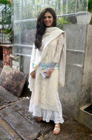 Malavika Mohanan snapped at Kitchen Garden in Bandra