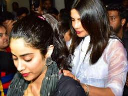 Priyanka Chopra & Janhvi Kapoor @Bastain in Bandra