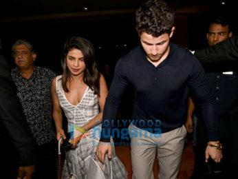 Priyanka Chopra and Nick Jonas snapped after dinner at JW Marriott in Juhu