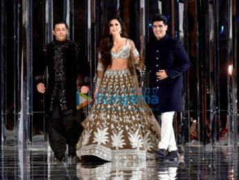 Salman Khan and Katrina Kaif walks the ramp for Manish Malhotra's fashion show