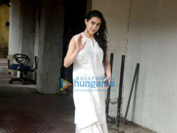 Sara Ali Khan snapped at the gym in Khar